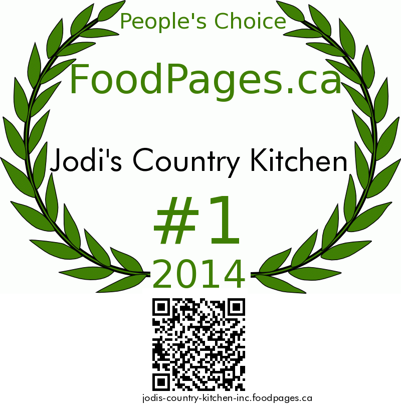 Jodi's Country Kitchen FoodPages.ca 2014 Award Winner